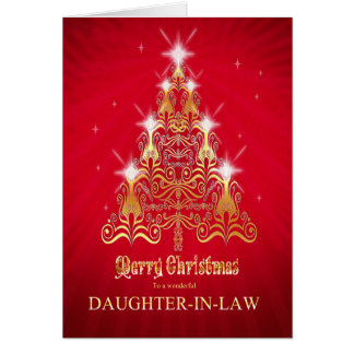Daughter-in-law, Christmas tree Christmas card