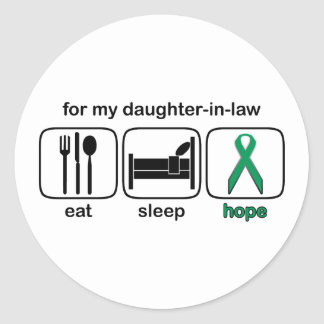 Daughter-in-law Eat Sleep Hope - Kidney Cancer Classic Round Sticker
