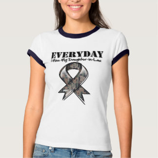 Daughter-in-Law - Everyday I Miss My Hero Military Tee Shirts
