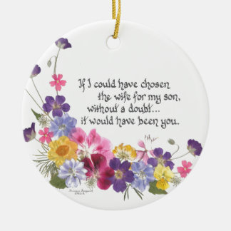 Daughter-in-Law gift Ceramic Ornament