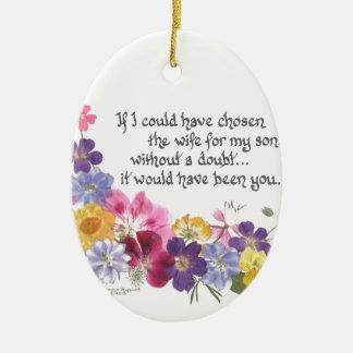 Daughter-in-Law gift Ceramic Ornament