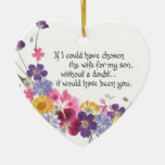 Daughter-in-Law gift Double-Sided Heart Ceramic Christmas Ornament