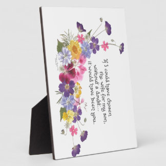 Daughter-in-Law gift Plaque