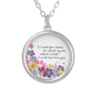 Daughter-in-Law gift Round Pendant Necklace