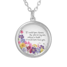Daughter-in-law Gift Silver Plated Necklace at Zazzle