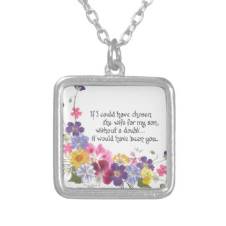 Daughter-in-Law gift Square Pendant Necklace
