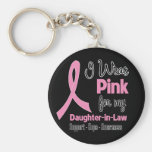 Daughter-in-Law - I Wear Pink - Breast Cancer Key Chains