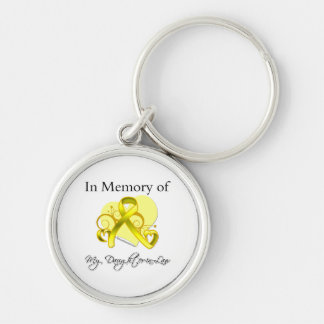 Daughter-in-Law - In Memory of Military Tribute Keychain