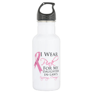 Daughter-in-Law Inspiring Courage Breast Cancer 18oz Water Bottle