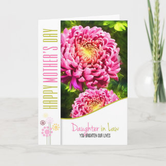Daughter in Law Mother's Day Pink Dahlia Garden Card