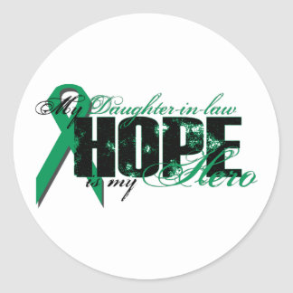 Daughter-in-law My Hero - Kidney Cancer Hope Classic Round Sticker