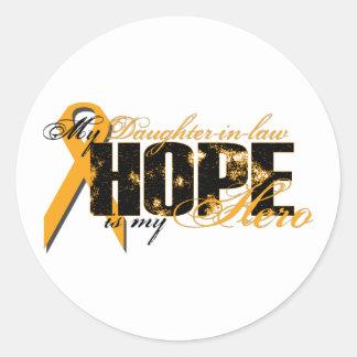 Daughter-in-law My Hero - Leukemia Hope Classic Round Sticker