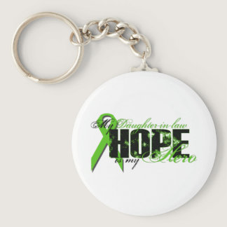 Daughter-in-law My Hero - Lymphoma Hope Keychain