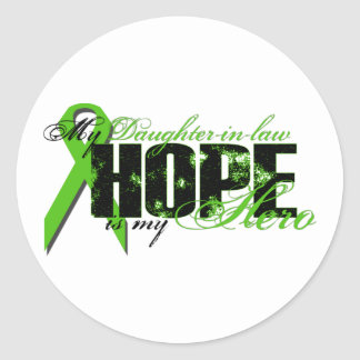 Daughter-in-law My Hero - Lymphoma Hope Classic Round Sticker