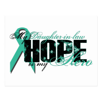 Daughter-in-law My Hero - Ovarian Hope Postcard