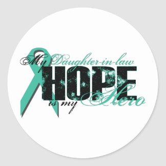 Daughter-in-law My Hero - Ovarian Hope Classic Round Sticker