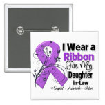 Daughter-in-Law - Pancreatic Cancer Ribbon Button