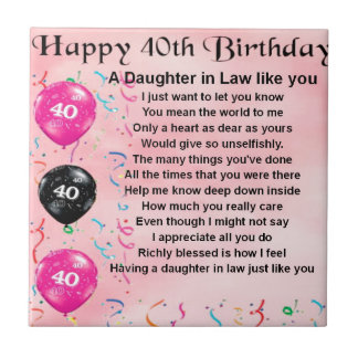 Daughters 40th Birthday Gifts On Zazzle