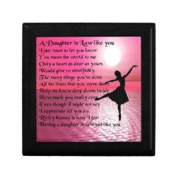 Daughter in Law Poem - Ballerina Jewelry Box