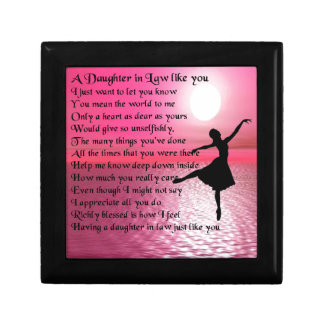 Daughter in Law Poem - Ballerina Jewelry Box