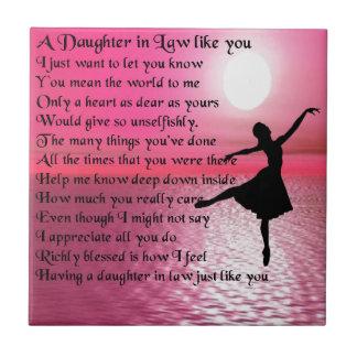 Daughter in Law Poem - Ballerina Tile