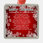 Daughter in Law Poem - Christmas Design Christmas Ornaments