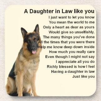 Daughter in Law Poem  - German Shepherd Coaster