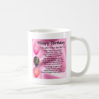 Daughter in Law Poem -  Happy Birthday Coffee Mug