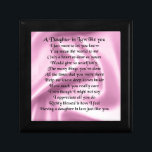 "Daughter in Law Poem - Pink Silk Jewelry Box<br><div class=""desc"">A great gift for a daughter in law.</div>"