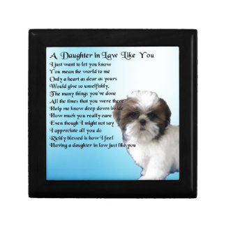 Daughter in Law Poem - Shih-Tzu Design Trinket Box