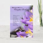 "Daughter In Law purple crocus Birthday Card<br><div class=""desc"">Daughter In Law purple crocus Birthday Card</div>"