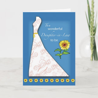 Daughter-in-Law to Be Bridal Shower Sunflower Invitation