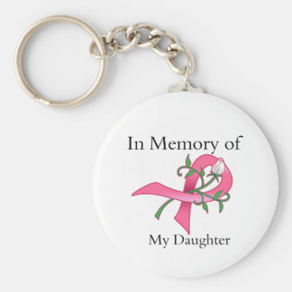 Daughter - In Memory - Breast Cancer Key Chains