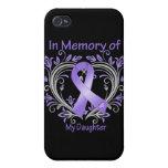 Daughter - In Memory Heart Hodgkins Disease iPhone 4/4S Cover