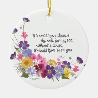 Daughter-inLaw Gifts Ceramic Ornament