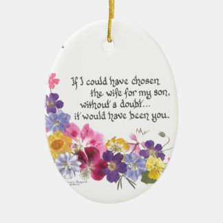 Daughter-inLaw Gifts Double-Sided Oval Ceramic Christmas Ornament