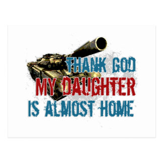 Daughter is almost home postcard