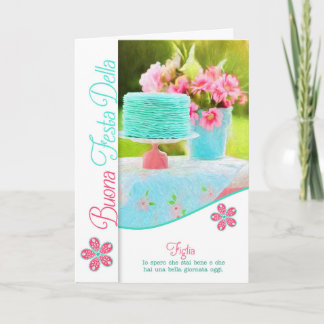 Daughter Italian Mother's Day Painted Cake Card