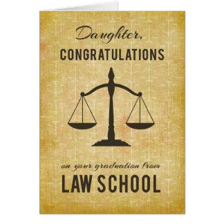 Daughter, Law School Graduation Congratulations Sc Card