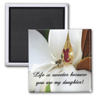 Daughter Love 2 Inch Square Magnet