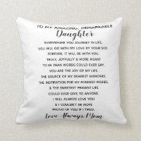 daughter love mom throw pillow