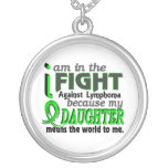 Daughter Means The World To Me Lymphoma Personalized Necklace