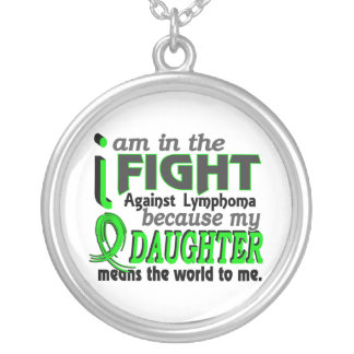 Daughter Means The World To Me Lymphoma Round Pendant Necklace