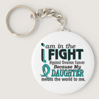 Daughter Means World To Me Ovarian Cancer Keychain