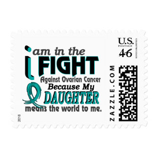 Daughter Means World To Me Ovarian Cancer Postage Stamp