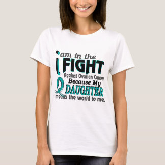 Daughter Means World To Me Ovarian Cancer T-Shirt
