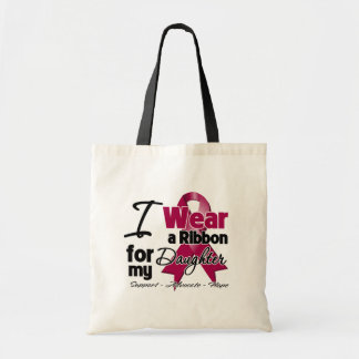 Daughter - Multiple Myeloma Ribbon Canvas Bags