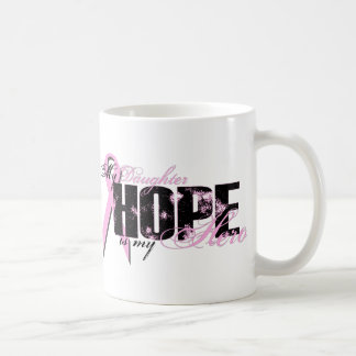 Daughter My Hero - Breast Cancer Hope Coffee Mug