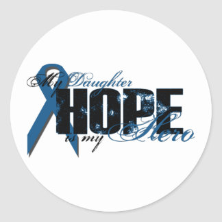 Daughter My Hero - Colon Cancer Hope Classic Round Sticker