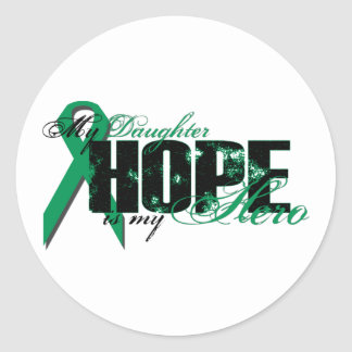 Daughter My Hero - Kidney Cancer Hope Classic Round Sticker